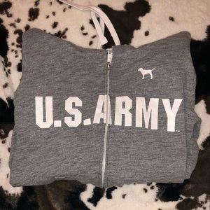 Victoria Secret/ Pink U.S. Army Hoodie